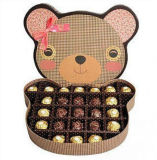 사치품은 청초한 2개의 층 초콜렛 선물 종이상자를