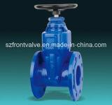Hierro fundido / hierro dúctil Válvula de compuerta de cierre elástico