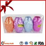 Golden+Silverのギフトのパッキングのための人工的なリボンの卵を作る美しい印刷された固体光沢のリボン