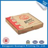 Выполненная на заказ бумага Brown Kraft коробка Corrugated пиццы упаковывая