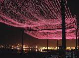 Mariage de décoration de lumière de cascade à écriture ligne par ligne de DEL