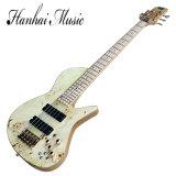 Guitare musique/5-String basse électrique de Hanhai avec le Collet-Par l'entremise-Corps