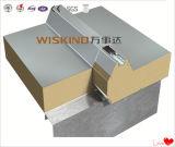 El panel de emparedado agradable de la PU del aspecto para la casa prefabricada
