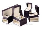 Caja de empaquetado vendedora caliente de la cartulina de la joyería colorida del terciopelo