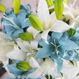 Цветок ретро лилии 2 головок искусственний для украшения (SF15258)