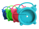 Creative Lovely Bag Shape Logo Printed Silicone Mini Table Alarm Clock