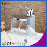 Faucet тазика водопада большого Spout способа Fyeer латунный