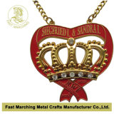 Carnevale Medal del ricordo con Chain, Medallion con Antique Brass Finish