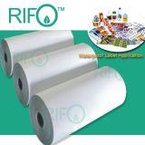 Le synthétique de BOPP étiquette le matériau d'étiquettes pour imprimable rotatoire UV flexible