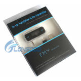 3.5m m Gato Car FM Transmitter con Car Charger para el iPhone