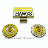 Hard su ordinazione Enamel Golf Hat Clips con Ball Marker nel caso (GHC-11)