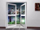 Gráficos de aluminio de la puerta del dormitorio de la puerta del marco de los paneles del interior dos