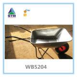 Brouette galvanisée d'outil de jardin avec deux la roue Wb6211