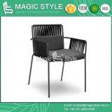 끈으로 엮으십시오 의자 새로운 디자인 정원 가구 쌓을수 있는 의자 알루미늄 의자 (마술 작풍)를 식사하는 의자 안뜰을