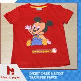 A3, A4 Hoja Tamaño de la PU revestimiento de capa, el corte fácil camiseta oscura de Transferencia de Calor de transferencia de papel de impresión de 100% tela de algodón