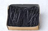 chevilles de cheveu noires classiques bourrées par cadre en métal de 5.5cm (JE1040)