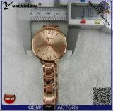 Relógio feito sob encomenda livre do preço da faixa de metal da senhora Magro do logotipo Yxl-800 2016 bom