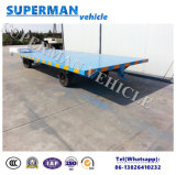 8t貨物輸送の産業平面引っ張り棒のトレーラー