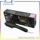 2 en fers ioniques de 1 de balai de cheveu peigne de redresseur viennent avec le peigne électrique 20PCS/CTN de redressage de cheveu droit d'écran LCD