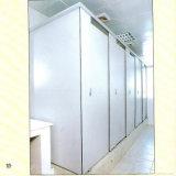 Cubículo de toalete HPL com ventilação tratada com resina de melamina