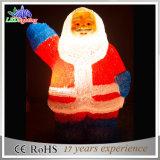 Luz acrílica das decorações do Natal do diodo emissor de luz Papai Noel do motivo do feriado