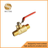 Vávula de bola de cobre amarillo larga de la válvula de globo de la maneta