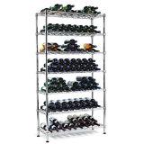 Регулируемый вертикальный держатель шкафа бутылки вина ковки чугуна, утверждение NSF