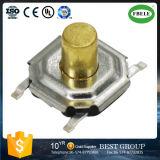 Correção de programa de alta temperatura principal de cobre do interruptor chave da proteção ambiental do elemento 4*4*4.3 do interruptor do tacto