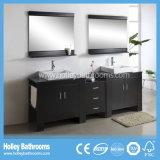 La vanità americana del bagno di stile con il bacino ed il metallo della lastra di vetro paga (BV156W)