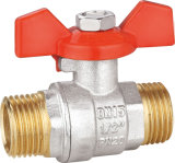 Ball de cobre amarillo Valve con Aluminum Handle BV-1380 M/M
