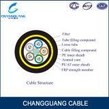 Cable de fibra óptica de arriba de la alta calidad ADSS con la alta base extensible de la fuerza 2/4/8/12/24/48/96/128 para el OEM frígido del clima