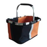 주황색 600d 옥스포드 Cloth Shopping Basket Without Cover