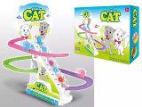 Juguete animal de la pista del juguete del juguete del tren del carril de la escalera plástica determinada de la subida (H9200075)