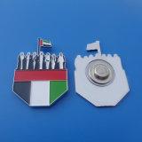2016 Pin do Lapel da águia do emblema do metal do falcão do Pin UAE do Lapel do projeto da bandeira do dia nacional dos UAE