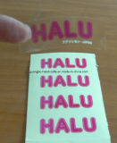 Adorável etiqueta boa qualidade Personalizado Projeto Limpar Etiqueta