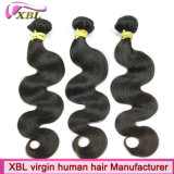 O cabelo cambojano da qualidade superior remenda o cabelo de tecelagem preto