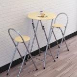 3部分2人の金属の木のダイニングテーブル(催し物または保存するスペースのためのWS16-0077、)