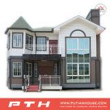 Casa de aço clara residencial pré-fabricada da casa de campo com tamanho personalizado