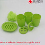 Pink verde Wholesale Plastic 6PCS Bathroom Accessories Sets