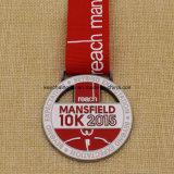 Uniqeデザイン円形浮彫りの金属のマンズフィールドの実行5k 10kメダル
