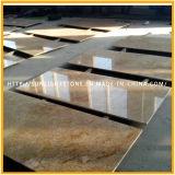Lajes imperiais da pedra do granito do ouro de India para bancadas/partes superiores da vaidade/Worktops