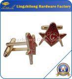 Botão de punho maçónico do metal barato por atacado