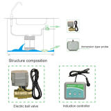 Solución sin hilos del regulador del detector de la detección de escape del agua con la válvula motorizada