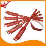 Faixas feitas sob encomenda do bracelete dos Wristbands da identificação do plástico de vinil do entretenimento (E6060B22)