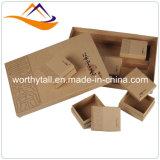 Vente en gros estampée par luxe fait sur commande de cadre de papier de cadeau de carton