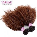 Cabelo brasileiro Curly de Ombre da extensão do cabelo humano do Afro natural