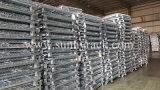Contenitori galvanizzati pieghevoli del filo di acciaio