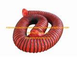 Incêndio flexível vermelho do PVC - mangueira resistente da canalização da ventilação do ar