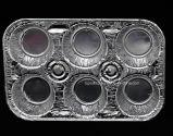Ecofriendly 6개의 구멍 알루미늄 호일 처분할 수 있는 케이크 Bakeware