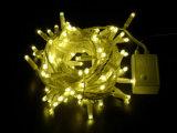 O diodo emissor de luz impermeável amarra a decoração clara do feriado